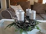 Kunstversteck Designer Adventskranz Kerzenleuchter Dark-Silver