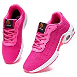 DYKHMATE Air Zapatillas de Deporte Mujer Running Zapatos para Correr Gimnasio Ligero Sneakers Deportivas (Malla Rosa,41 EU)