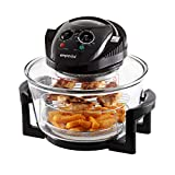 Emperial Premium Black 17L Halogen Convection Oven Cooker Air Fryer 1400W Includes Accesories Pack,...