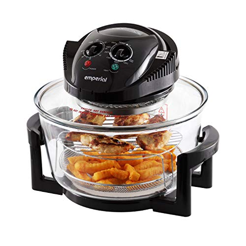 Emperial Premium Black 17L Halogen Convection Oven Cooker Air Fryer 1400W...