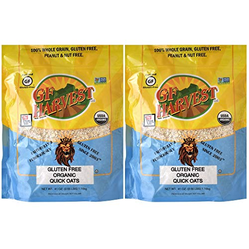 GF Harvest Gluten Free Organic Quick Oats, Non-GMO, Certified Organic, 41 Ounce, 2 Count