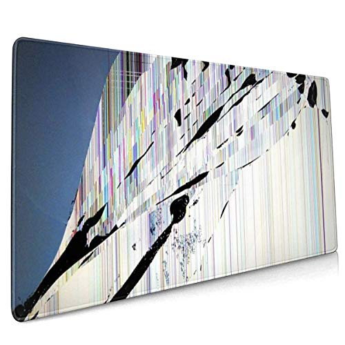 Rubberen voet Mousepad gebroken scherm 15,7 x 35,4 inch
