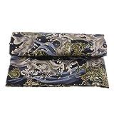 Hellery 78 X 59 Zoll Vintage Asiatischen Drachen Baumwolle