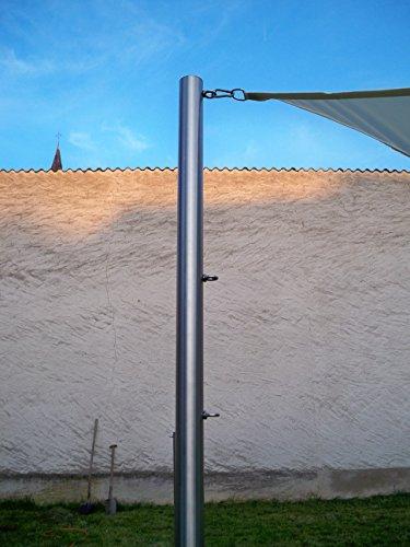 Sonnensegelmast Sonnensegel Sonnensegelpfosten Edelstahl 3m ∅ 60mm 6030/2-3