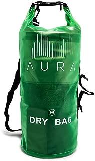 Waterproof Semi-transparent Dry Bag - 10L/20L Dry Bag Backpack - Zipper Compartment, Handles, Straps - Black, Blue, Green, Red - Transparent Dry Bag for Kayaking, Swimming, Beach, Rafting
