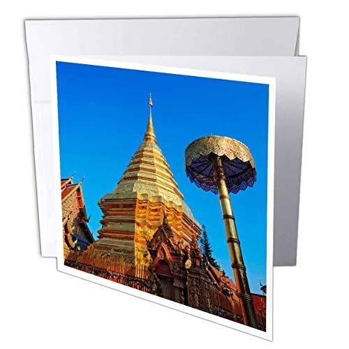 Wa Phra That Doi Suthep Rajvoravihara, Thailand - Greeting Cards, 6 x 6 inches, set of 12 (gc_75460_2)