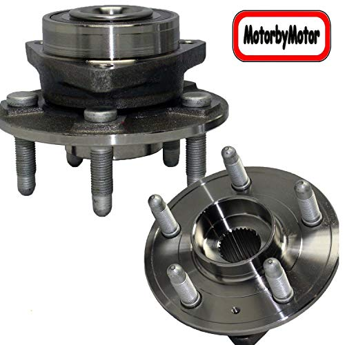 MotorbyMotor 513282 Front/Rear Wheel Bearing Hub Assembly Replacement for 2008-2019 Cadillac CTS, 2018 2019 Cadillac XTS Chevy Impala, 2010-2015 Chevy Camaro Wheel hub Assembly (2 Pack)-5 Lugs w/ABS -  RB513282x2