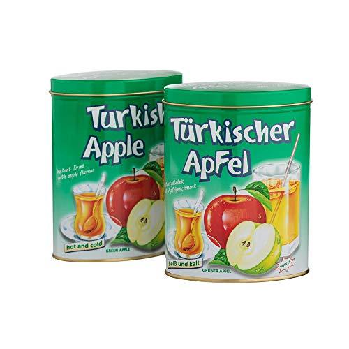 2x Türkischer Apfel Instant - grün 300g - Geschenkdose - fruchtig, säuerlich Klassiker
