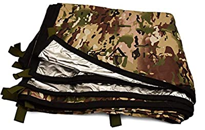 Arcadia Gear 10ft x 10ft Thermal Reflective Light Weight Water Proof Nylon Survival Tarp | The Mongrel EDT | Designed for When Your Life Depends On It
