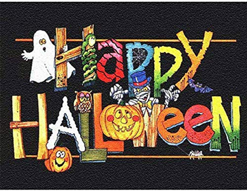 5d Happy Halloween Diamond Painting Kits for Adults Beginner Pumpkin Full Drill Diamond Art Dots Crafts DIY Cross Stitch Easy Color Paint by Number Canvas Wall Decor 16' W X 12' L