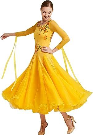 8f0a4045e YUMEIREN Ladies Rhinestones Ballroom Dance Competition Dress Waltz Standard  Ballroom Dance Dance & Gymnastics Clothing