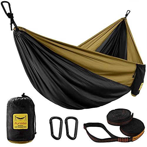 Puroma Camping Hammock Single & Double Portable Hammock Ultralight Nylon Parachute Hammocks with 2...