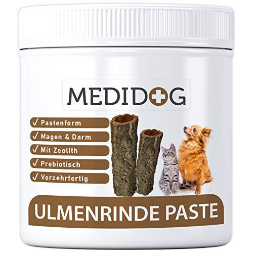 Medidog 500g Premium Ulmenrinde Paste für Hunde, bessere Verdauung und Darmflora, Ulmenrinde für Hunde und Katzen zur Darmsanierung, Slippery Elm Bark