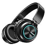 Beiladaixi Bluetoothヘッドホン高音質サブウーファー Bluetoothヘッドセット ワイヤレスヘッドフォン 通話可 密閉型 折畳式 有線無線兼用(Black)