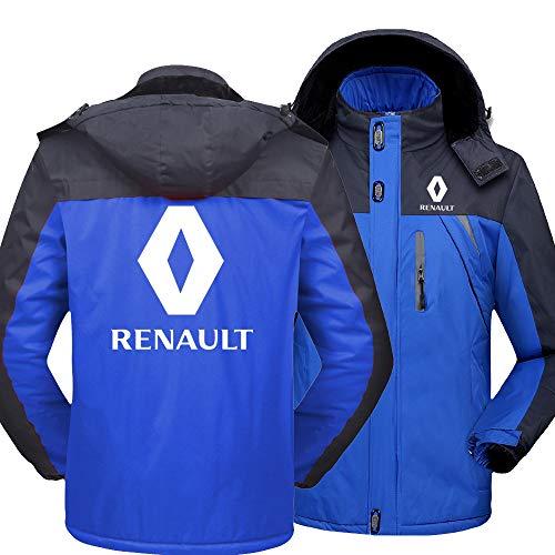 NISHUSHANW Herren Wasserdicht Hooded Jacke Berg Ski Vlies Zum Renault Beiläufig Jacken Windbreaker Warm Mantel Y/Blau/L