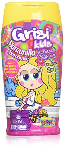 Manzanilla Grisi Kids Shampoo for Girls | Lightening Shampoo with Chamomille Extract, No Tears Hair Product for Light and Shiny Hair; 10.1 Fl Ounces