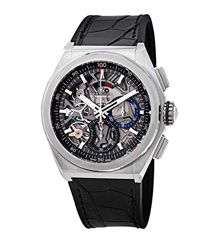 Zenith Defy El Primero 21 Reloj cronógrafo automático Negro con Esfera esquelética de Titanio para Hombre 95.9000.9004/78.R582