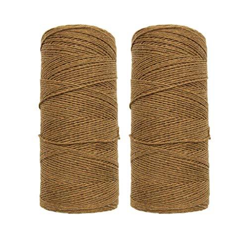 Tcn 2 Rouleaux 1mm Pur Coton Métier À Tisser Fil De Chaîne pour Tisser Tapis Tapisserie Tapis Bricolage,Fils À Tricoter À La Main – Idéal pour Tout Projet De Tricot Et De Crochet