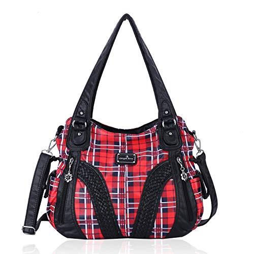Men Handbags Handle Satchel Soft Tote Bag For Women Purse Messenger Bags Shoulder Bag Tote Red Lips Strong Woman Sign Printing Box Tote Bags For Women