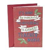 Hallmark Christmas Card for Teacher (The Difference You Make)