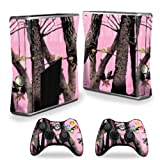 MightySkins Skin Compatible with X-Box 360 Xbox 360 S Console - Pink Tree Camo | Protective, Durable, and Unique Vinyl Decal wrap Cover | Easy to Apply, Remove, and Change Styles | Made in The USA