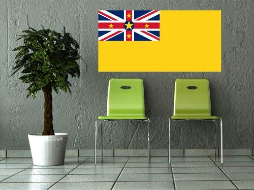 Kiwistar Wandtattoo Sticker Fahne Flagge Aufkleber Niue 120 x 60cm