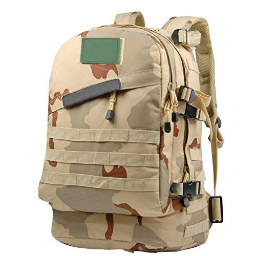 Sacs D'alpinisme En Plein Air Yy.f Sacs à Dos Multi-fonctionnel Tactique Ventilateurs Militaires Sac à Dos Imperméable 3D Sac à Bandoulière Oxford. Taille: 9 84 * 5.9 * 17 72 Pouces,B-25*15*45cm