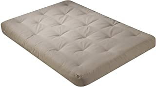 Serta Chestnut Double Sided Foam and Cotton Queen Futon Mattress, Khaki, Made in The USA