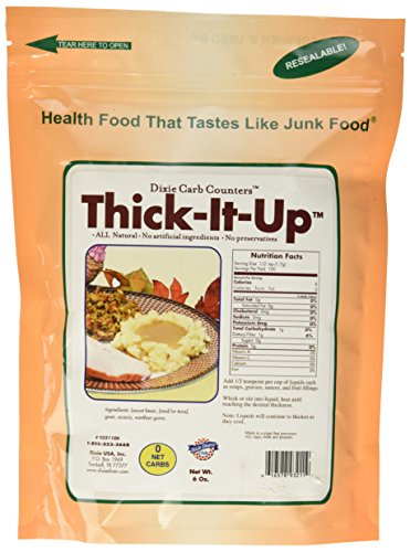 Thick-It-Up Low Carb Food Thickener: - Make Your Health Food Taste Like Junk Food - Great for Soups, Gravies, Sauces (Sugar Free!)6 Oz.