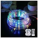 YTTde LED Rope Light 8 Farbwechsel-Streifenlicht Batteriebetriebene Hoop Lights Für Garten, Zaun,...