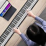 Teclado de piano enrollable, S SMAUTOP piano electrico 88 teclas teclado musical piano enrollado a mano 128 tonos y 14 canciones de demostración, para principiantes practicar Regalos para niños