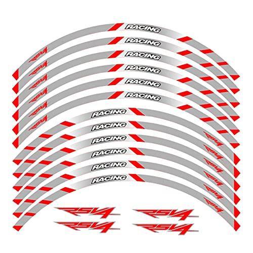 bazutiwns Pegatina de la Rueda de la Motocicleta Stripte Raya RABITABLE Compatible con Aprilia RSV4 R/RR RSV4 RF RSV4 RFW HSLL (Color : 4)