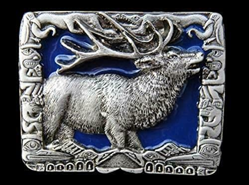 Canada Recommendation 5 ☆ popular Elk Belt Buckle Canadian Wild Hunting Moose B Hunter Life