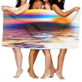CARTER PAUL Unisex The Beauty of The Sunset On The Lake Over-Sized Cotton Bath Beach Travel Towels 31x51 Inch