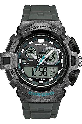 HEAD Reloj Digital para Hombre de Cuarzo con Correa en Caucho HE-110-04