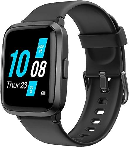 YAMAY Montre Connectée avec Tensiometre Oxymetre Cardiofrequencemètre pour Femmes Homme Smartwatch Etanche IP68 Montr...