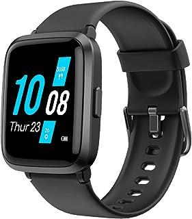 YAMAY Smartwatch con Oxímetro de Pulso Esfigmomanómetro y Pulsómetro Reloj Inteligente Impermeable para Hombre Mujer, Puls...