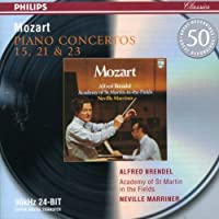 Piano Concertos 15 21 & 23 by BRENDEL / ACADEMY OF ST MARTIN / MARRINER (2003-04-08)