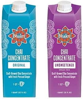 Bhakti Fair Trade Vegan Premium Chai Tea Concentrate (Variety Pack, 2-Pack)