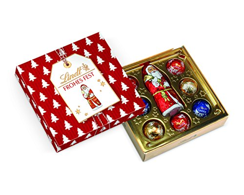 Lindt Kleine Kostbarkeiten Weihnachten Santa (7x Lindor Liliput Kugeln, 1x Weihnachtsmann 10.7g), 5er Pack (5 x 42 g)