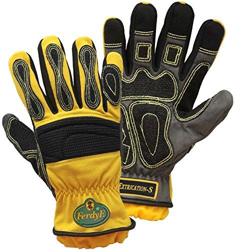 FerdyF. Extrication Handschuhe, gelb spezialisierter Handschuh ist für Notfall- und Rettungsarbeiten, für das Baugewerbe oder andere Extreme Arbeitsumgebung konzipiert Worden.