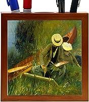 Rikki Knight John Singer Sargent Art Paul Helieu Design 5-Inch Wooden Tile Pen Holder (RK-PH3409) [並行輸入品]