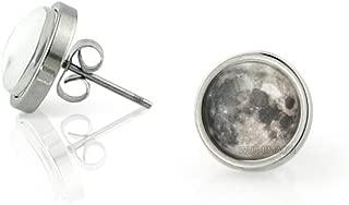 Full Moon Earrings Full Moon Stud Earrings Space Picture Earrings Customize Your Own Style