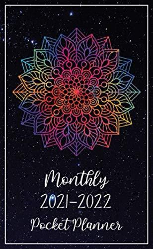 2021-2022 Monthly Pocket Planner: 2 Year Appointment Calendar | 24 Months Agenda Schedule Organizer with Holidays, Habit & Mood Tracker, Contact List, ... Rainbow Mandala Galaxy Universe Design