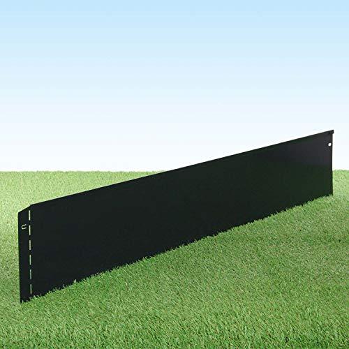 GartenAZ Metall Rasenkante, anthrazit 103x20 cm - Variante Rasenkanten 10er Set