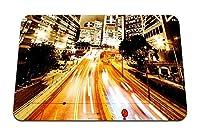 22cmx18cm マウスパッド (街の明かり街の明かり) パターンカスタムの マウスパッド