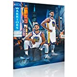 Steph Curry&Klay Thompson Canvas Wall Art, Golden State Splash Brothers Wall Poster Art Print Artwork, Basketball Star Curry and Thompson Wall Pictures for Fan Gift Bedroom Decoration (18' Wx24 H)