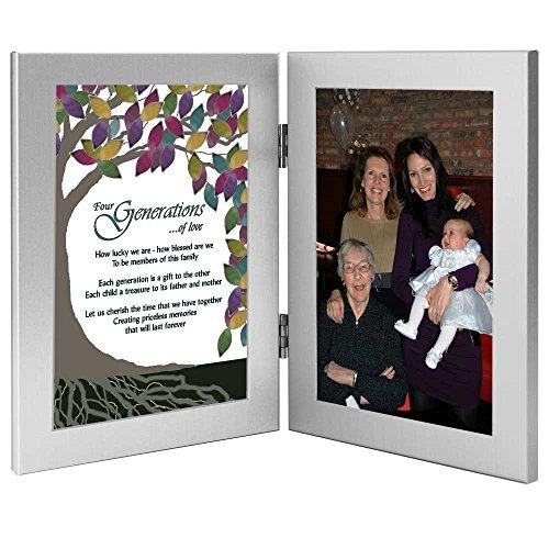 Vier Generationen Baum des Lebens Gedicht–hinzufügen Foto zu Rahmen für Großmutter/Großmutter/Mutter/Kind