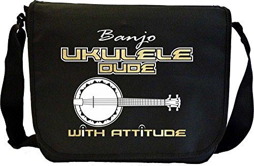 MusicaliTee Banjolele Banjo Ukulele Dude Attitude - Sheet Music Document Bag Musik Notentasche