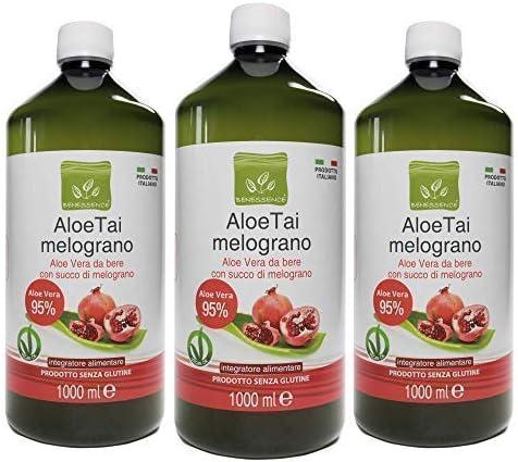 1476 opinioni per Benessence -Succo di Aloe Vera 95% con Melograno- 3L- Made in Italy